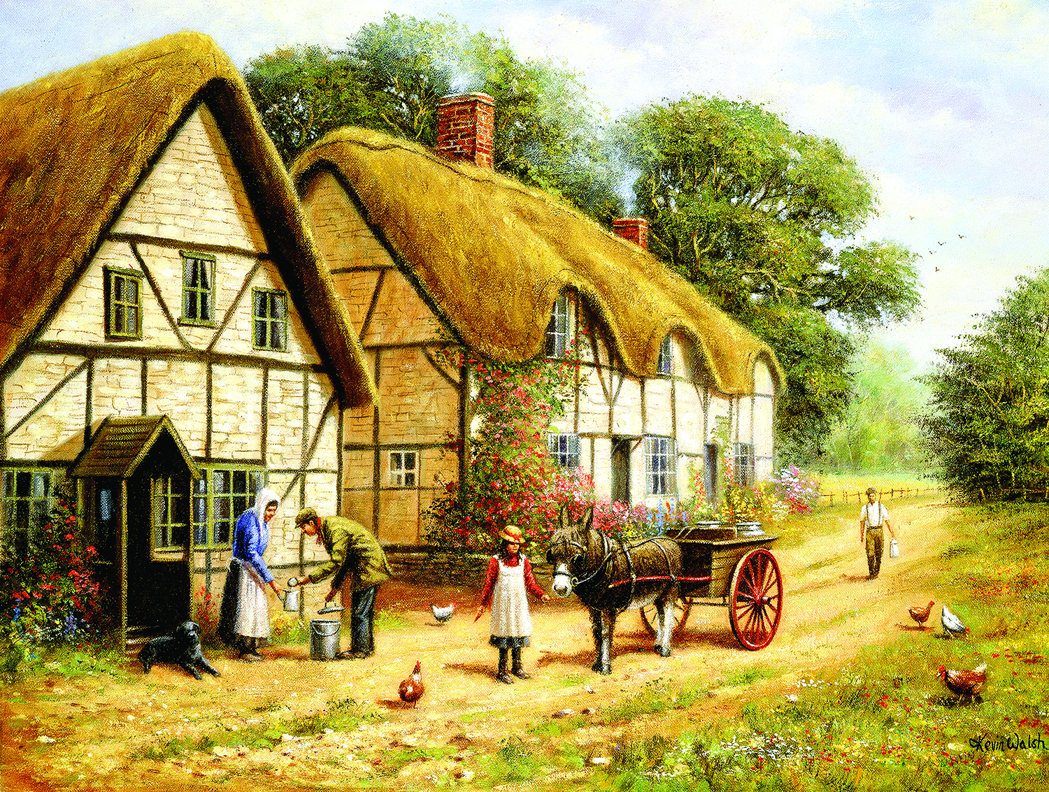 Delivering the Milk 500 pc Jigsaw Puzzle by SunsOut