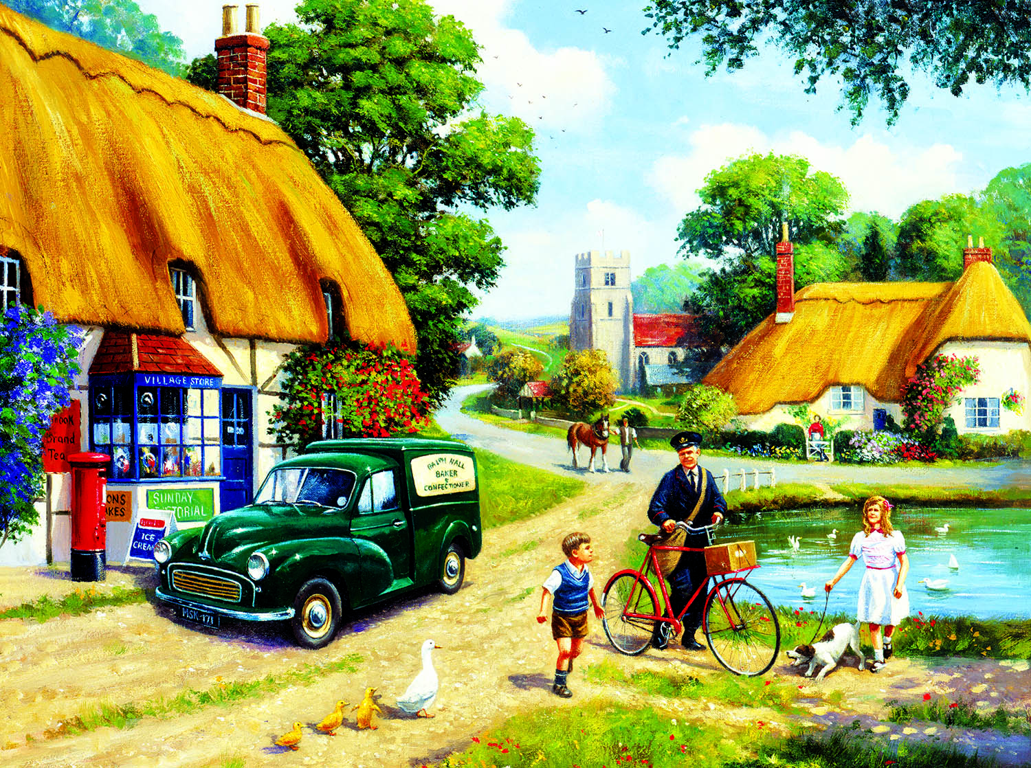 The Village Postman 1000 pc Jigsaw Puzzle by SunsOut