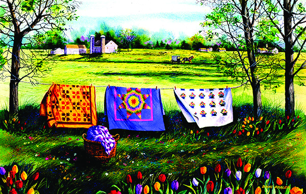 Amish spring 550 pc Jigsaw Puzzle by SunsOut