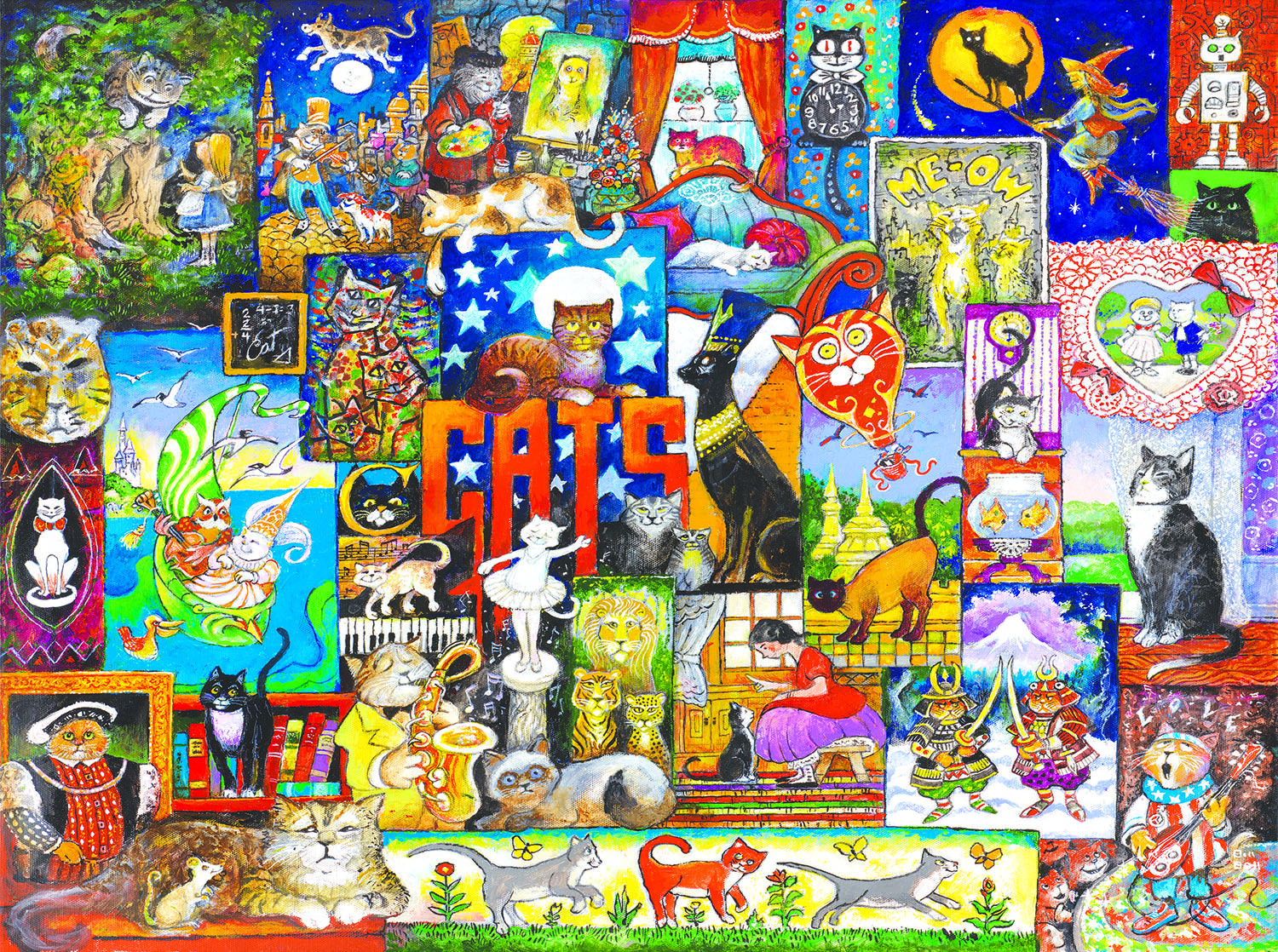 World of Cats 1000 pc Jigsaw Puzzle by SunsOut