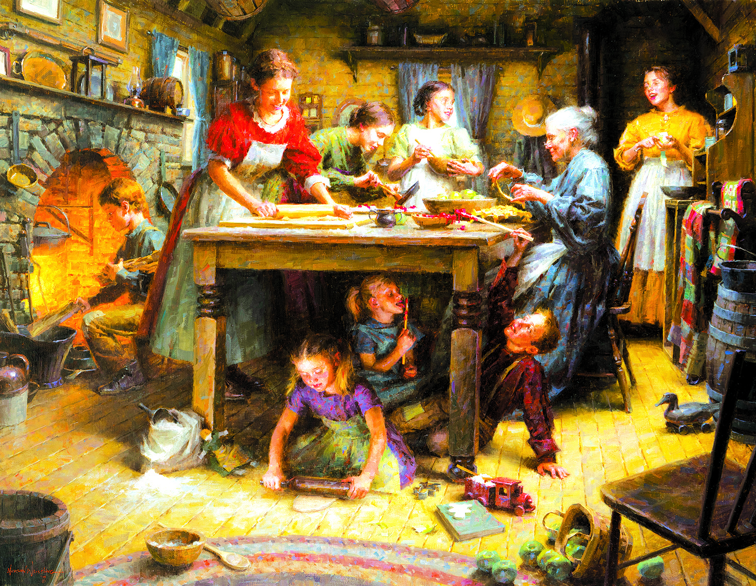 Family Traditions 1000+ pc Jigsaw Puzzle by SunsOut