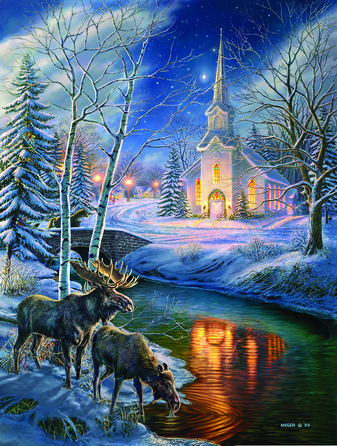 Church in the Clearing 500 pc Jigsaw Puzzle by SunsOut