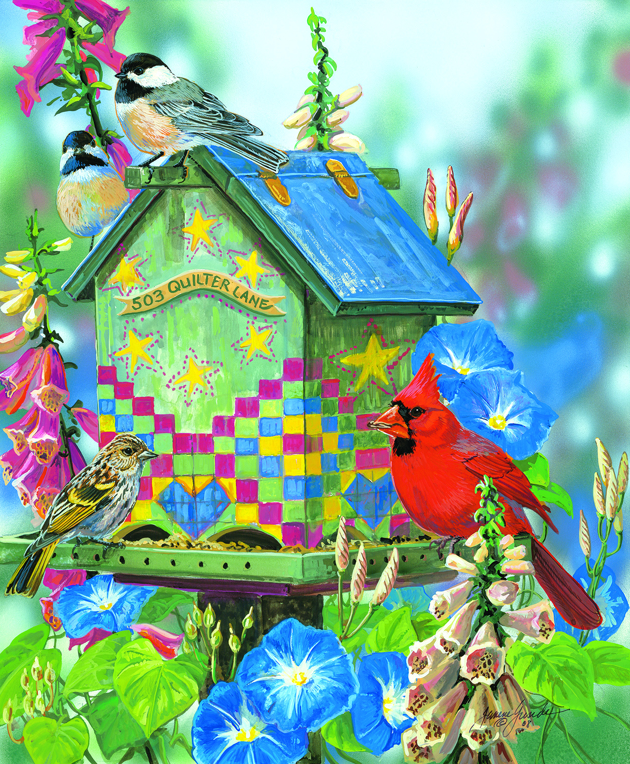503 Quilters Lane 1000 pc Jigsaw Puzzle by SunsOut
