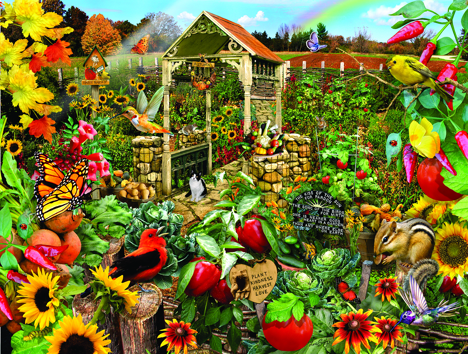 Community Garden 500 Piece Jigsaw Puzzle by SunsOut
