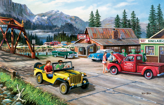 Road Trip 1000 pc Jigsaw Puzzle by SunsOut