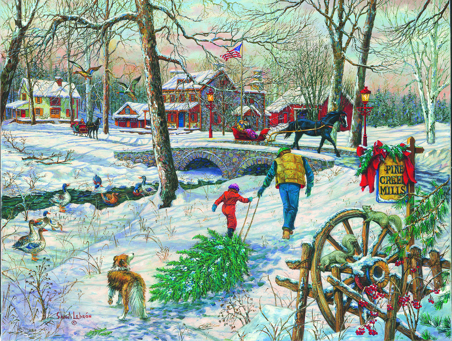 Pine Creek Mills 1000 pc Jigsaw Puzzle by SunsOut