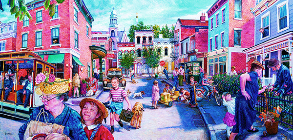 City Streets 1000 pc Jigsaw Puzzle by SunsOut