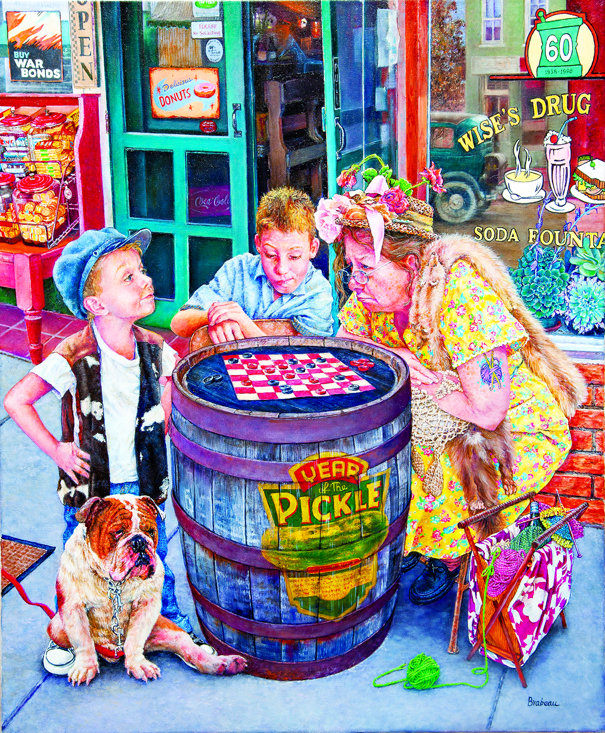 Playing Checkers 1000 pc Jigsaw Puzzle by SunsOut