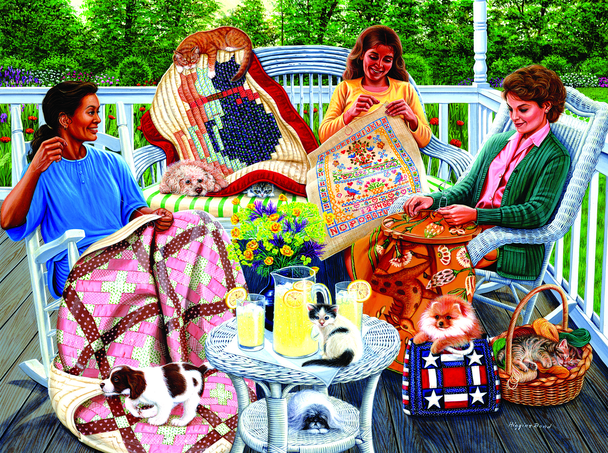 Back Porch 1000 pc Jigsaw Puzzle by SunsOut