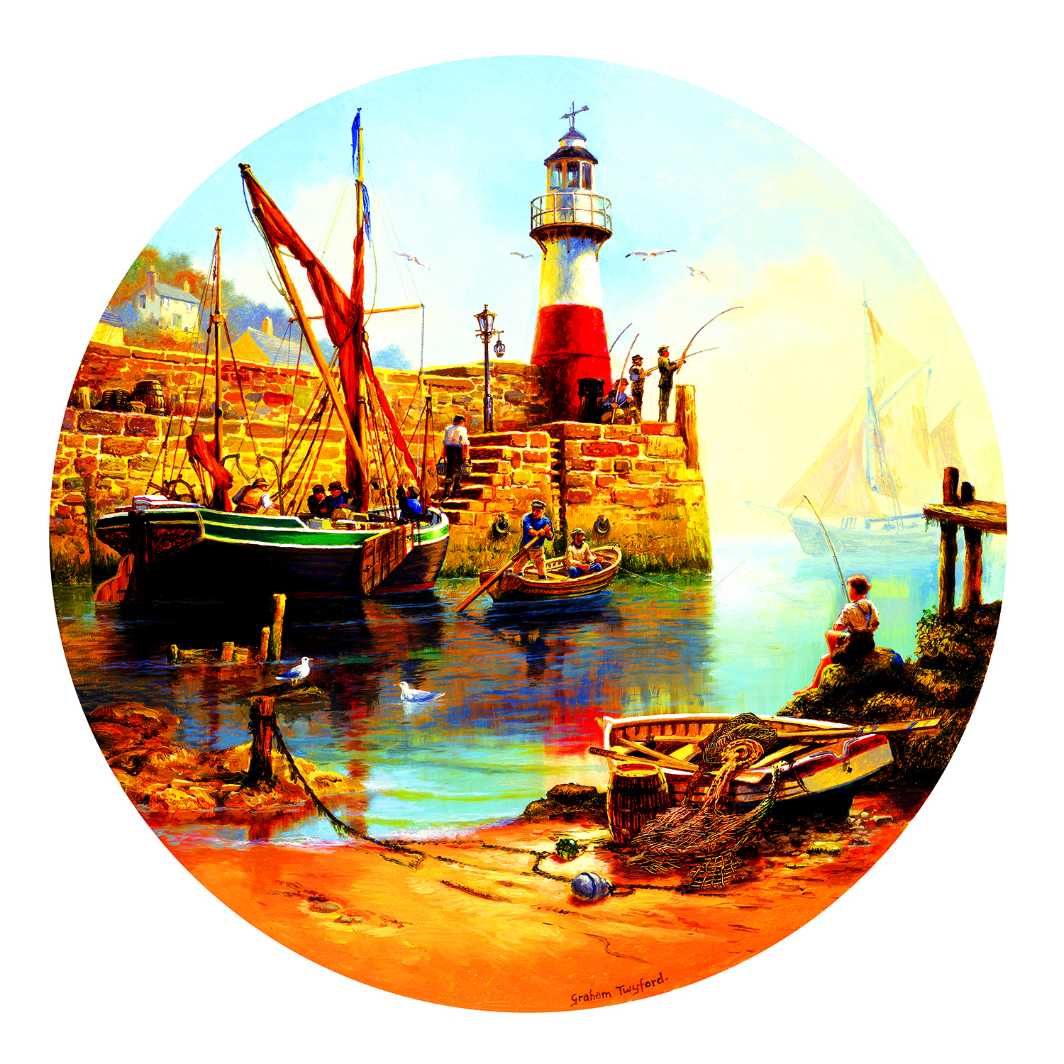 At the Harbor 1000 pc Jigsaw Puzzle by SunsOut