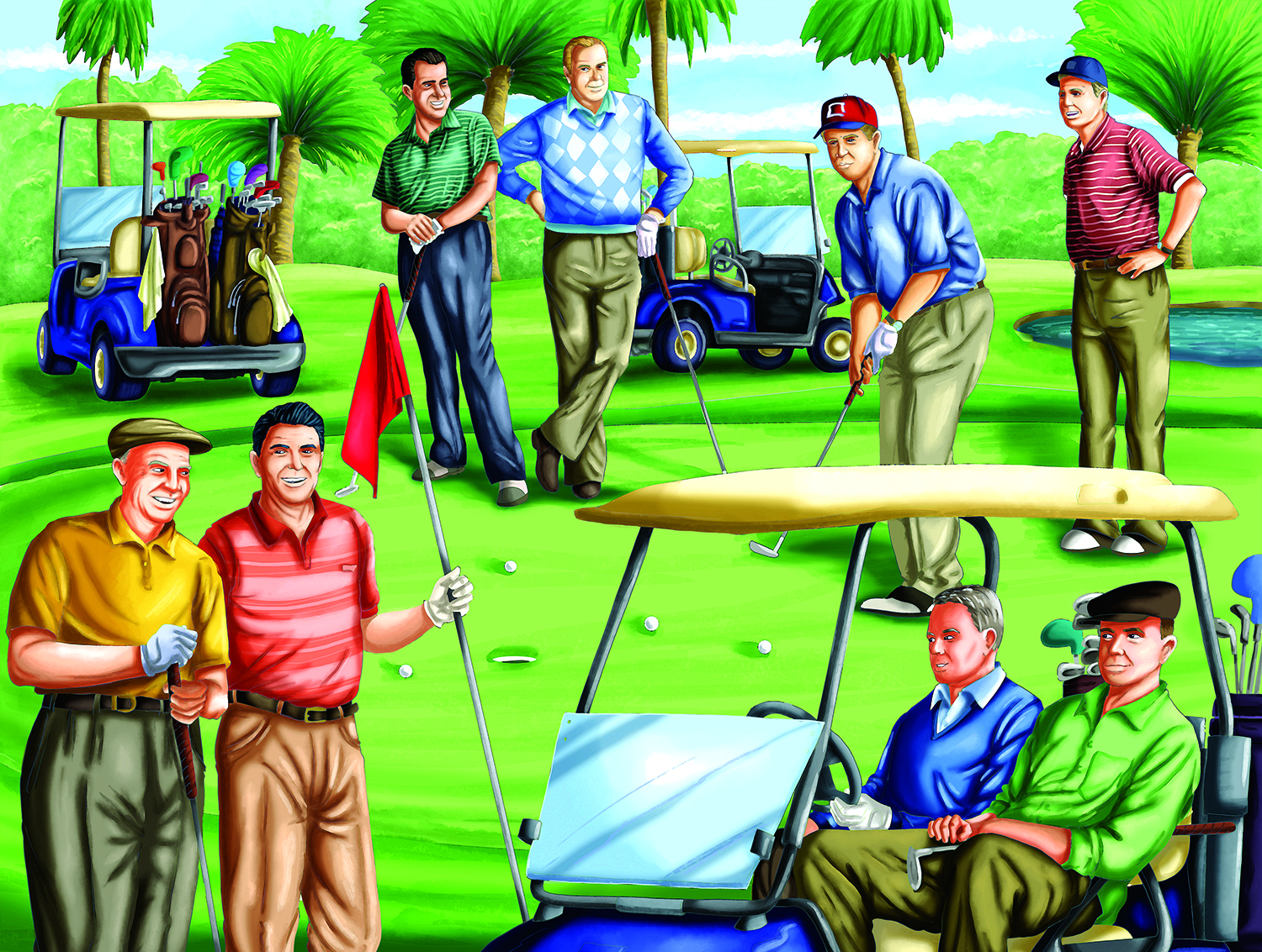 Fore! Republicans 500 pc Jigsaw Puzzle by SunsOut
