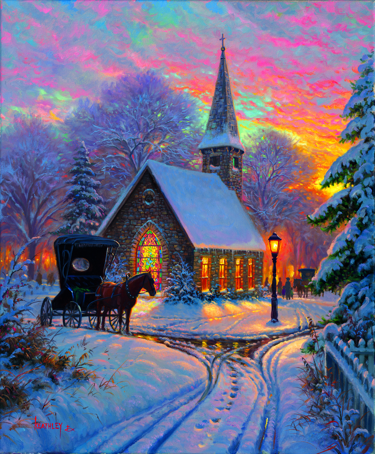 Carriage Chapel 1000 pc Jigsaw Puzzle by SunsOut