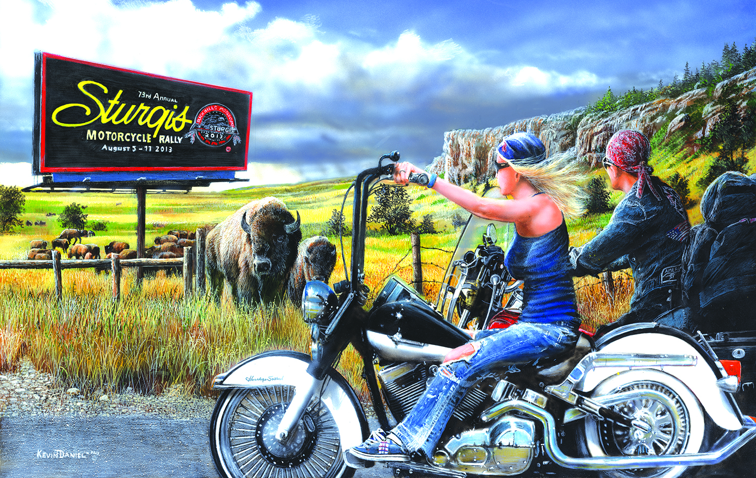 Heading for Sturgis 550 pc Jigsaw Puzzle by SunsOut