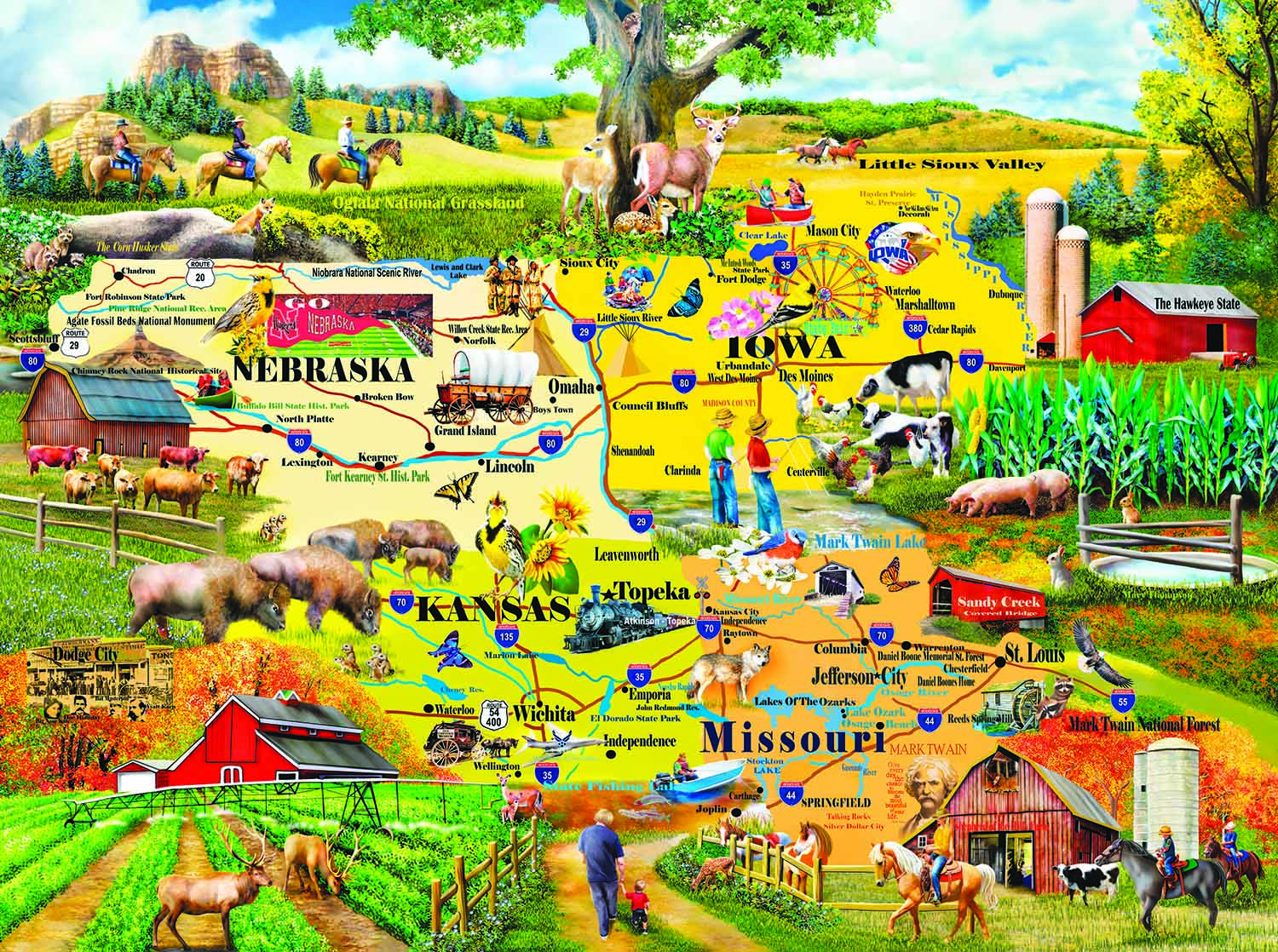 The Heartland 1000 pc Jigsaw Puzzle by SunsOut
