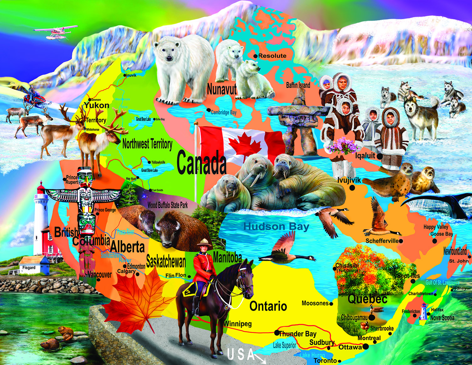 Canadian Horizons 1000+ pc Jigsaw Puzzle by SunsOut