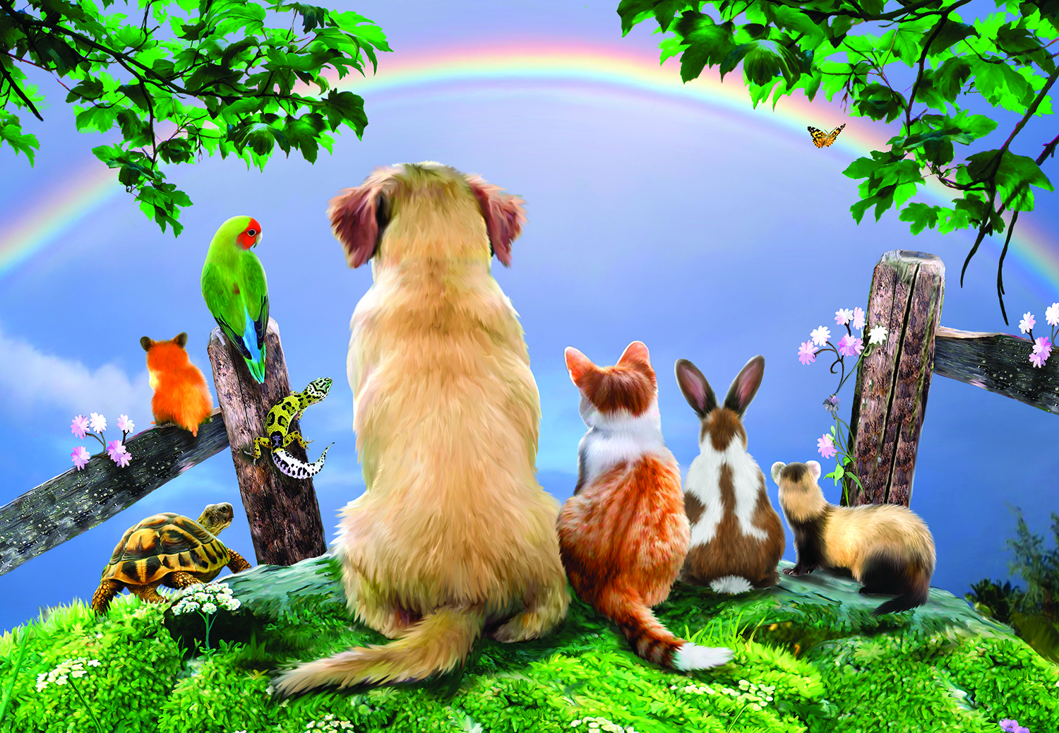 Over the Rainbow 500 pc Jigsaw Puzzle by SunsOut