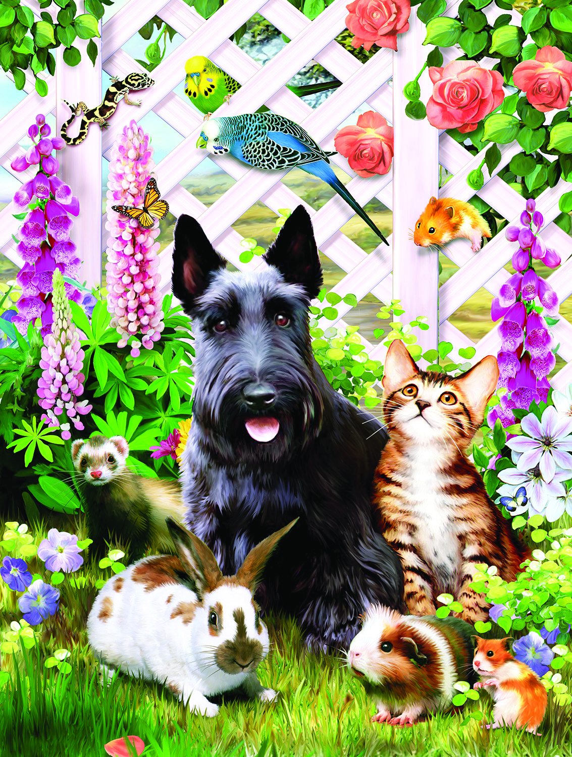Garden Pals 500 pc Jigsaw Puzzle by SunsOut