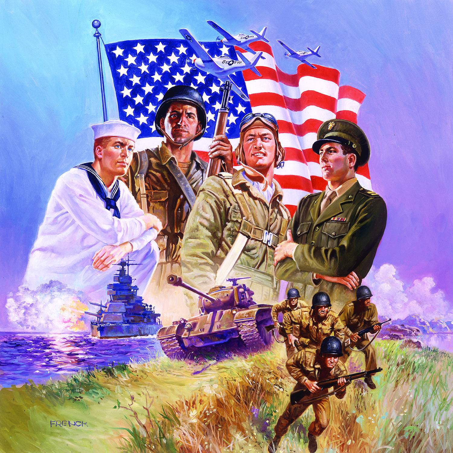 The Armed Forces 500 Piece Jigsaw Puzzle by SunsOut