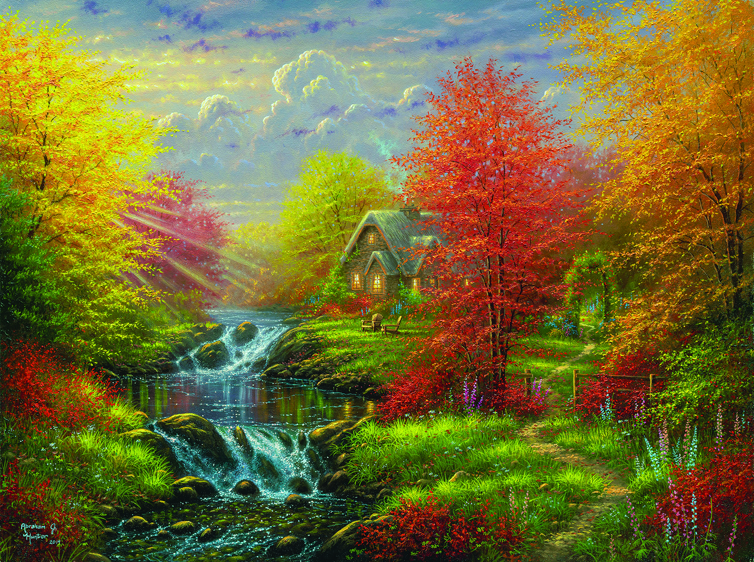 Secluded Cottage 1000 pc Jigsaw Puzzle by SunsOut