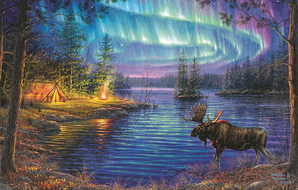 Northern Night 1000 pc Jigsaw Puzzle by SunsOut