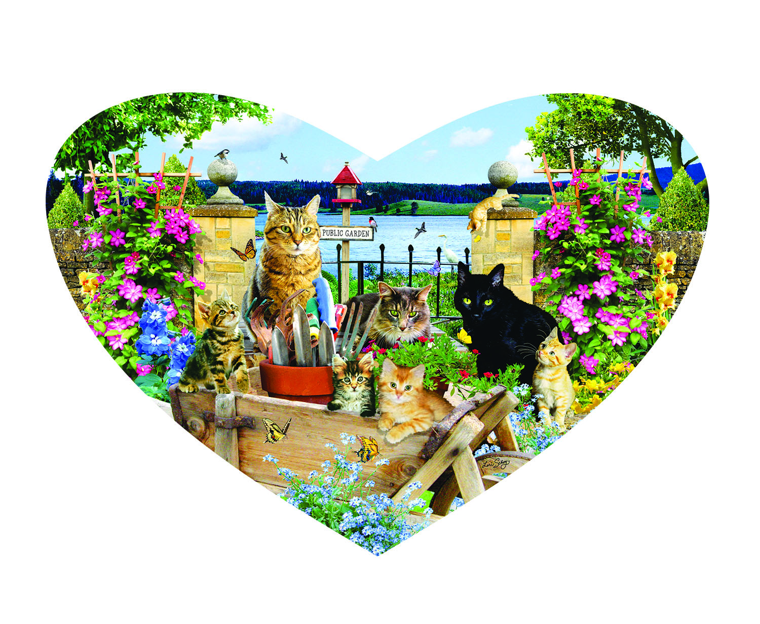 Kitty Heart 200 pc Jigsaw Puzzle by SunsOut