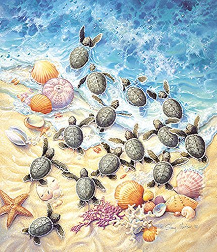 Green Turtle Hatchlings  550 pc Jigsaw Puzzle