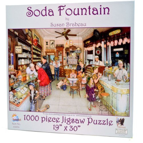 Soda Fountain - Old Fashioned Candy Store - 1000 pc Jigsaw Puzzle