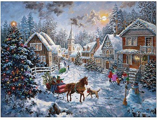 Merry Christmas 1000 pc Jigsaw Puzzle by SunsOut, Inc.