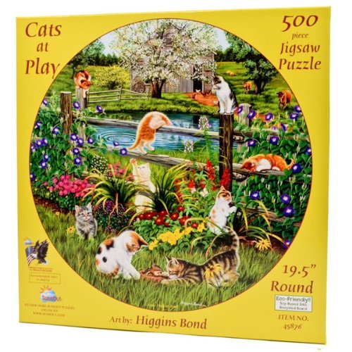 Cats at Play  500 pc Jigsaw Puzzle
