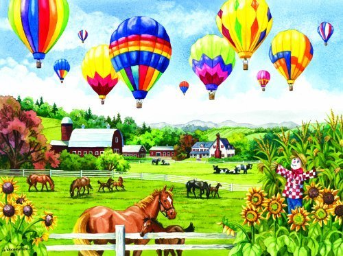 Balloons Over Fields 500 pc Jigsaw Puzzle