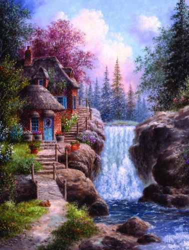 Tranquility Falls 1000 pc Jigsaw Puzzle