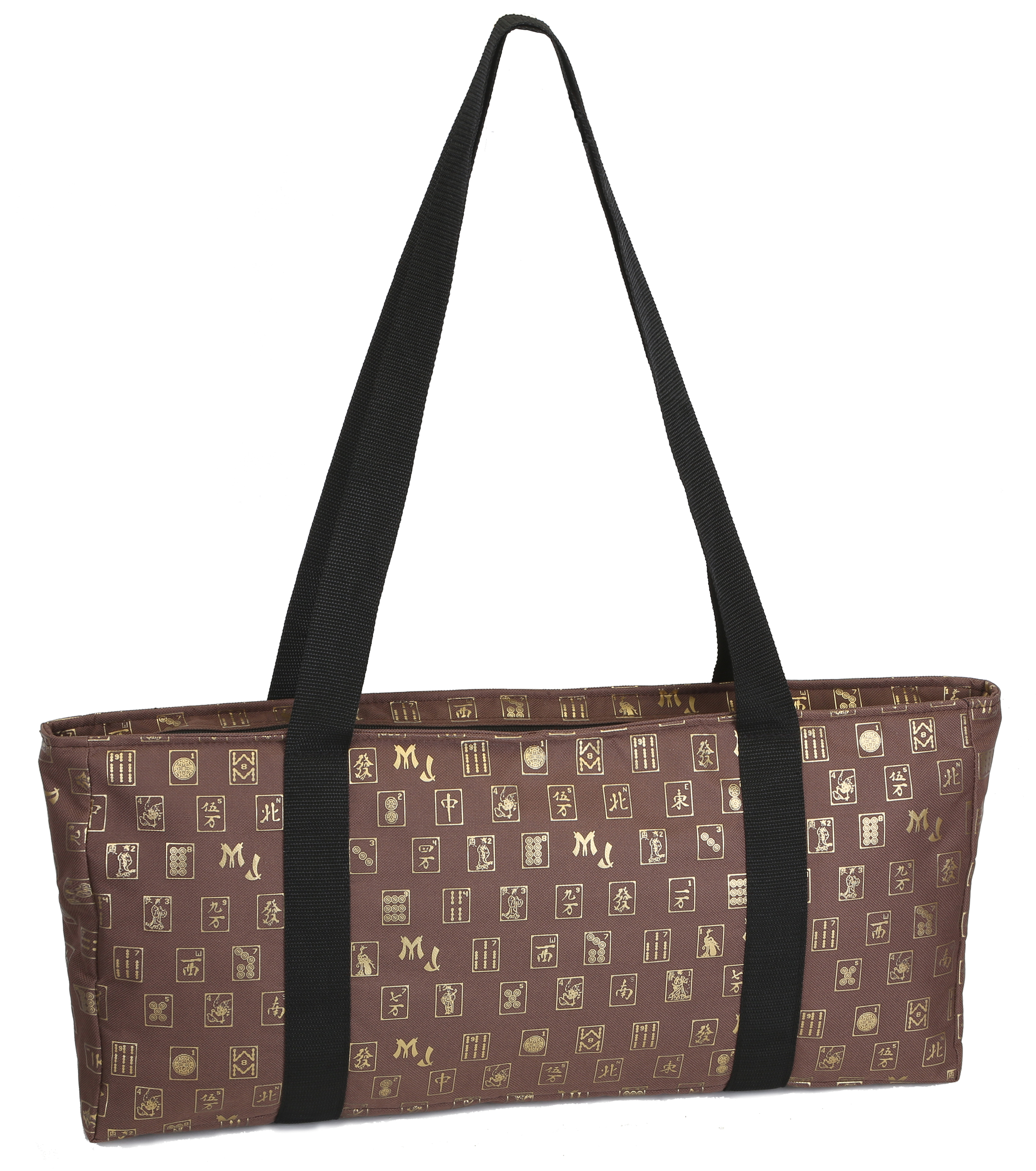 Brown & Gold Mah Jongg Set Soft Carrying Case (Case Only)