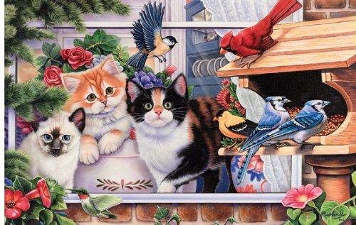 Springtime Wonders 550 pc Jigsaw Puzzle