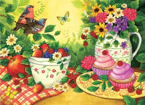 Cupcakes for Two 500 pc Jigsaw Puzzle