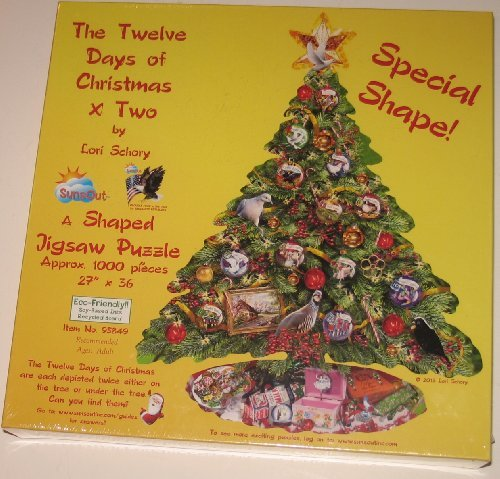 The Twelve Days of Chritmas X Two 1000 pc Jigsaw Puzzle