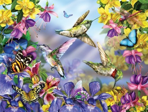 Butterflies & Hummingbirds 300 pc Jigsaw Puzzle -Nature Theme- by Sunsout