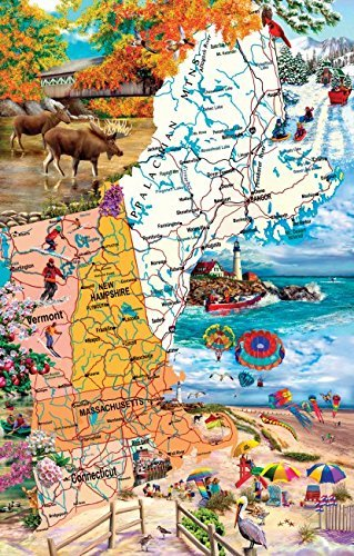 New England Road Trip 1000 pc Jigsaw Puzzle