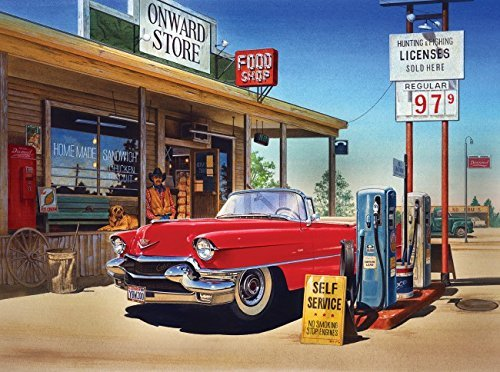 Onward Store Gas Station 500 pc Jigsaw Puzzle