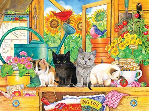Potting Shed Kittens 1000 pc Jigsaw Puzzle