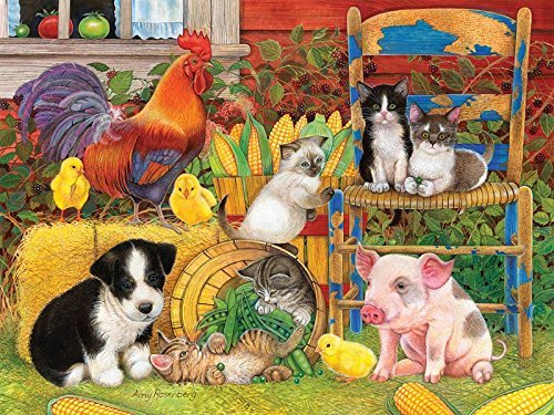 Farm Friends 300 pc Jigsaw Puzzle by SunsOut