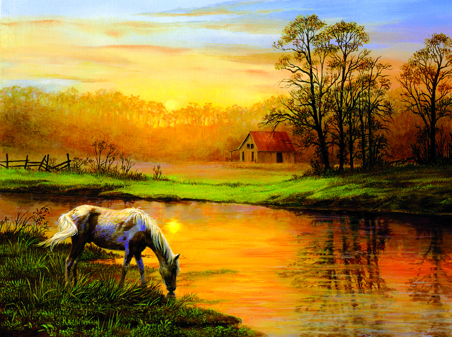 Pastoral Moment 1000 Pc Jigsaw Puzzle by SunsOut Inc.