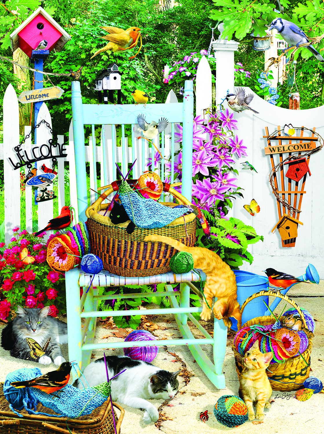 The Knitting Chair 1000 Pc Jigsaw Puzzle by SunsOut Inc.