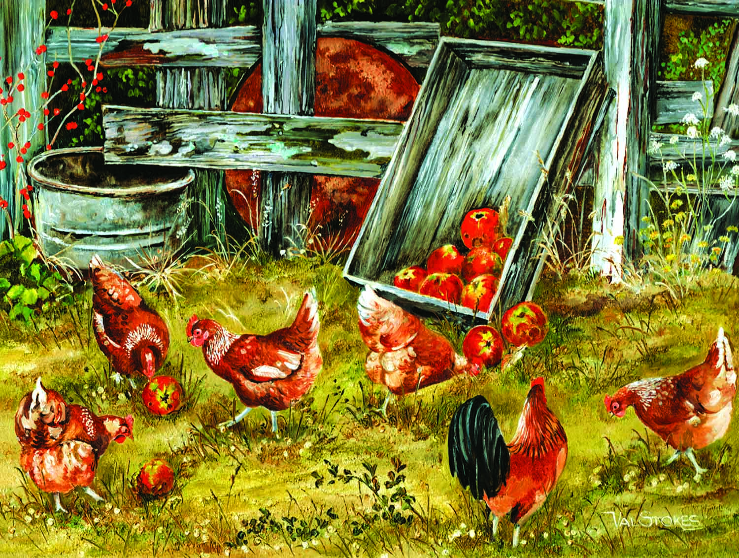 Pickin Chickens 500 Piece Jigsaw by SunsOut