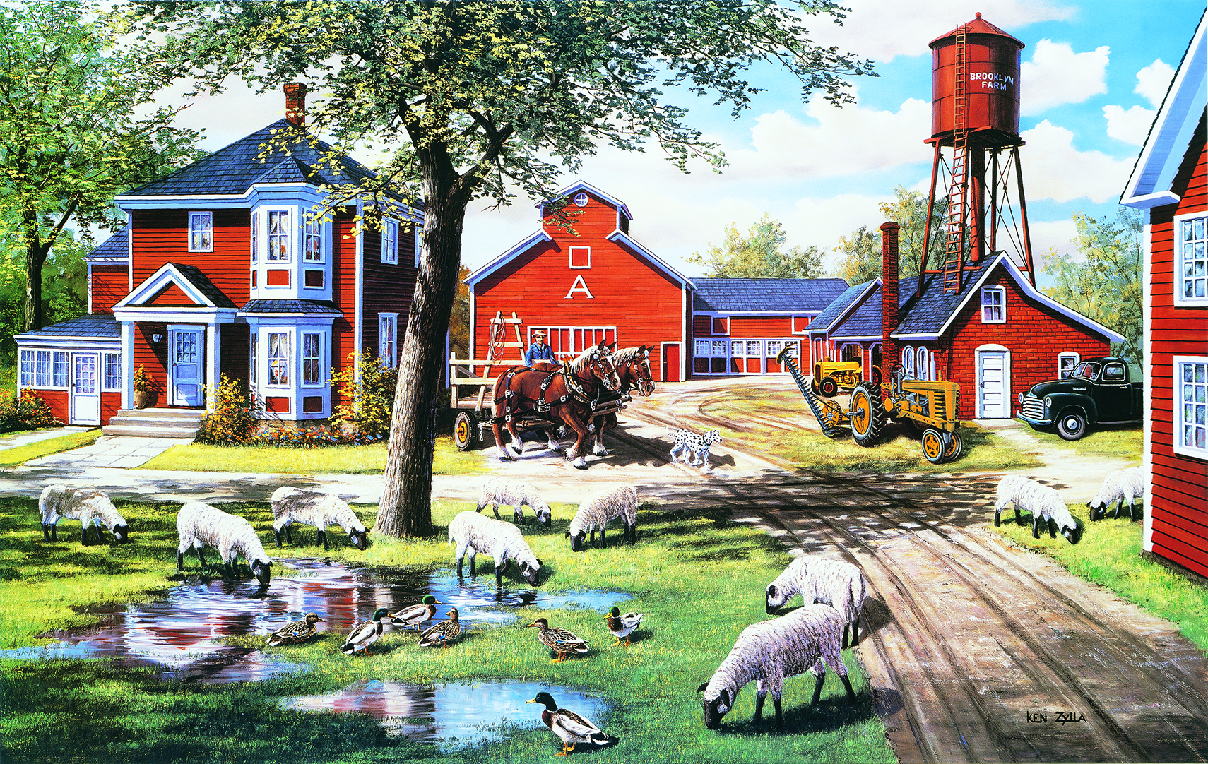 Farmyard Companions 550 550 Piece Jigsaw by SunsOut