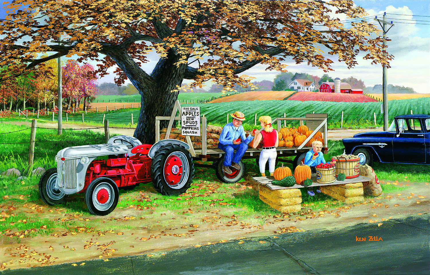 Harvest Time 1000 Pc Jigsaw Puzzle by SunsOut Inc.