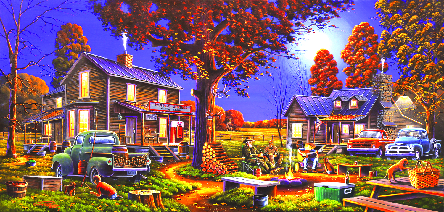 Maple Spring Retreat 1000 Piece Jigsaw by SunsOut