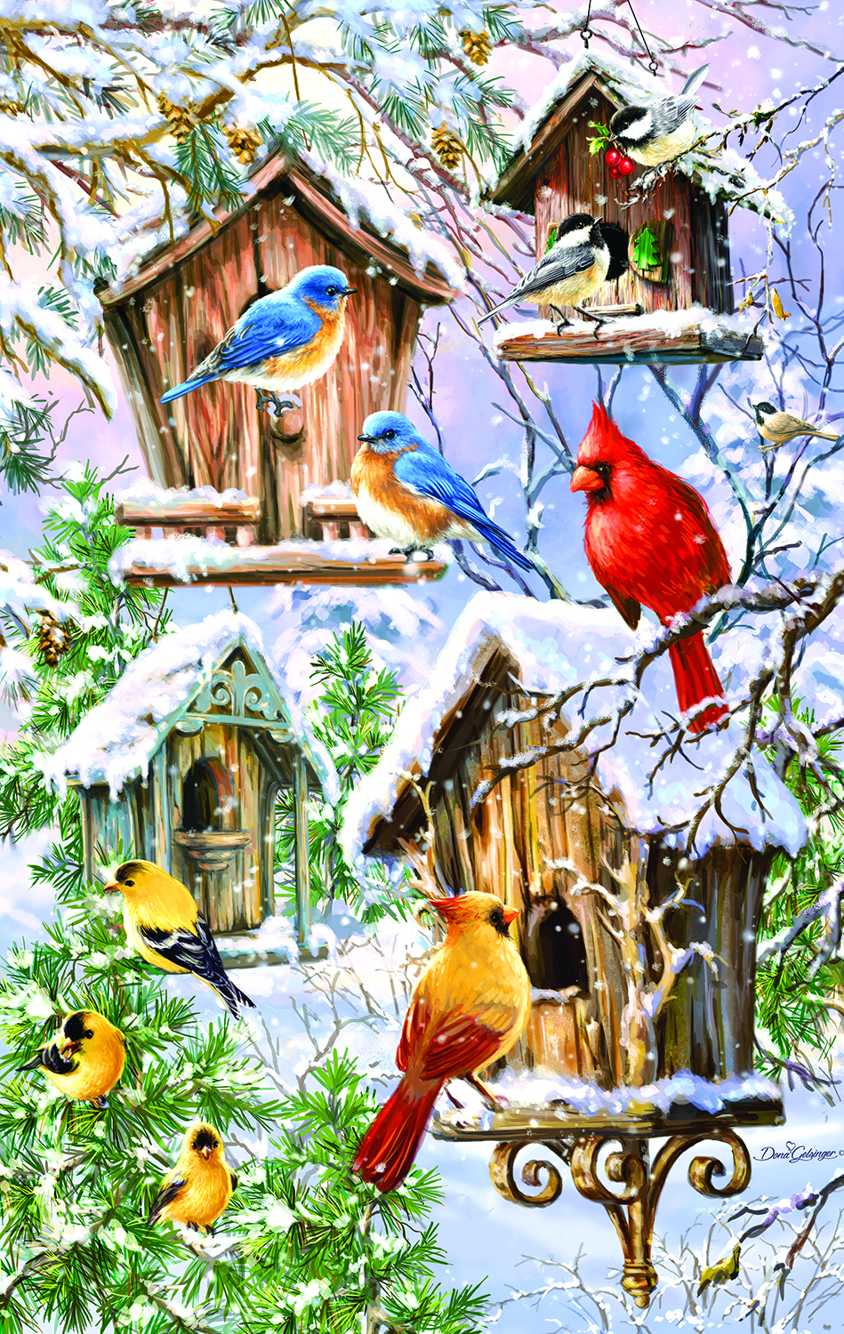 Snow Birds 550 Pc Jigsaw Puzzle by SunsOut Inc.