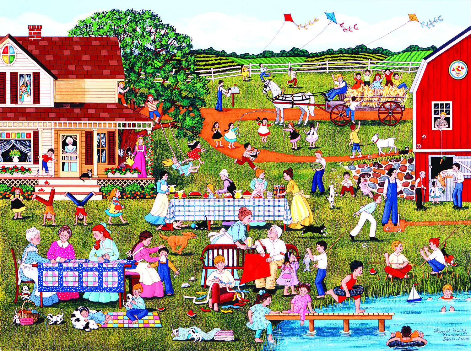 Annual Family Reunion 1000 Pc Jigsaw Puzzle by SunsOut Inc.